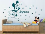 Mickey Mouse Wall Murals Personalized Name Disney Mickey Mouse Wall Art Stickers