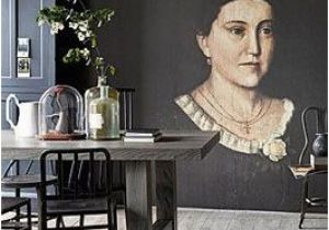 Mid Century Modern Wall Mural Love the Grey tones the Portrait is Questionable some Other Art