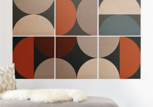 Mid Century Modern Wall Mural the Old Art Studio Mid Century Modern Geometric 24 Wood Wall Mural