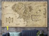 Middle Earth Map Wall Mural Lord Of the Rings Map