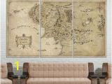 Middle Earth Map Wall Mural Lotr Art