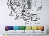 Middle Earth Map Wall Mural Map Of Middle Earth Lord Of the Rings Vinyl Wall Art Decal Wd 0642