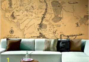 Middle Earth Wall Mural Lord Of the Rings Map Wallpaper Middle Earth Map Large Wallpaper Hobbit Map Print tolkien Map Wall Decal In Any Custom Sizes
