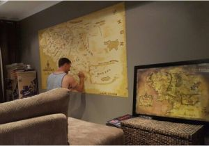 Middle Earth Wall Mural Middle Earth Map Wall Mural