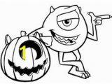 Mike Wazowski Coloring Page 31 Gambar Monsters Inc Coloring Pages Terbaik