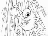 Mike Wazowski Coloring Page Mike Reveals He Has Almost Rebuilt the Boo S Door Monsters