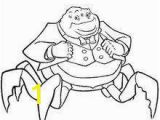 Mike Wazowski Coloring Page Waternoose Coloring Pages Hellokids