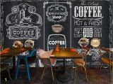 Milk and Coffee Wall Mural Beibehang Custom Wallpaper Photos Retro Hand Painted