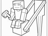 Minecraft Enderman Coloring Pages Enderman Holds Block with Steve top Coloring Page