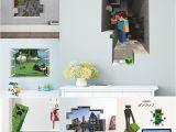 Minecraft Mural Wallpaper Dropwow Cartoon 3d Vivid Minecraft Wall Stickers for Kids Rooms Art