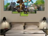 Minecraft Wall Murals 5 Pieces Canvas Painting Game Poster Minecraft Wall Art Home