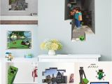 Minecraft Wall Murals Dropwow Cartoon 3d Vivid Minecraft Wall Stickers for Kids Rooms Art