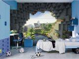 Minecraft Wall Murals Minecraft Bedroom Ideas for Boys Enderman