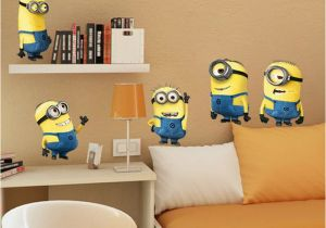 Minion Wall Mural Cute Small Man Wall Stickers for Kids Room Home Decorations 1404