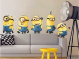Minion Wall Mural Cute Yellow Man Movie Wall Stickers for Kids Rooms Home Decor 3d