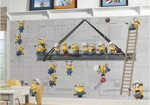Minion Wall Mural Minions at Work Xl Chair Rail Prepasted Mural Wall Sticker Outlet
