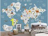 Minion Wall Mural Uk Custom Wallpaper Cartoon World Map Tv Background Wall Living Room Bedroom Children Room Background 3d Wallpaper Murals