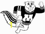 Minnesota Gophers Coloring Pages Funny Gopher Drawing