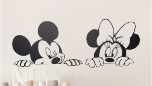 Minnie Mouse Murals Cartoon Wall Stickers Kids Bedroom Art Decor Cute Mickey Minnie