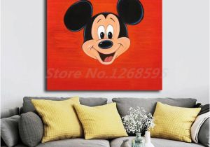 Minnie Mouse Wall Murals Mickey Mouse Fa Mouse Face Wall Art Canvas Poster and Print Canvas