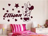 Minnie Mouse Wall Murals Minnie Mouse Wall Decals Girl Personalized Name Decal Vinyl Star