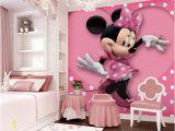 Minnie Mouse Wall Murals Pink Minnie Mouse Heart Dot Wallpaper Wall Decals Wall Art Print Mural