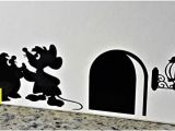 "Minnie Mouse Wall Murals Uk Cartoon Decal Mouse Hole Wall Sticker "" Gus and Jaq the Cinderella"