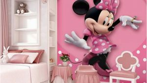 Minnie Mouse Wall Murals Uk Pink Minnie Mouse Heart Dot Wallpaper Wall Decals Wall Art Print Mural