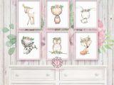 Minted Childrens Wall Murals 6 Deer Fox Bunny Rabbit Bear Owl Raccoon Boho Printable