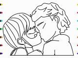 Miraculous Ladybug and Cat Noir Coloring Pages Miraculous Ladybug Kiss Cat Noir Coloring Pages for Kids