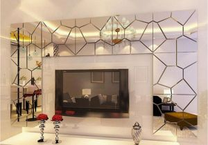 Mirror Murals Walls 18cm 7pcs Diy Acrylic Modern Mirror Decal Art Mural Wall Sticker