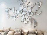 Mirror Murals Walls Details About 3d Mirror Flower Removable Wall Sticker Art Acrylic