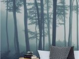 Misty forest Wall Mural Sea Of Trees forest Mural Wallpaper In 2019