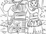 Moana Coloring Pages Printable Tui and Sina From Moana Coloring Page Moana