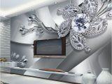 Modern Art Murals for Walls Custom Any Size 3d Wall Mural Wallpaper Diamond Flower Patterns Background Modern Art Wall Painting Living Room Home Decor
