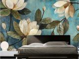 Modern Art Murals for Walls Custom Mural Wallpaper European Painting Flowers Retro Livingroom Tv Backdrop Wallpaper Entrance Bedroom Non Woven Wall Covering