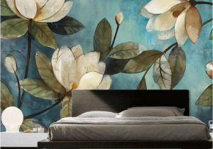 Modern Art Murals for Walls Custom Mural Wallpaper European Painting Flowers Retro Livingroom Tv Backdrop Wallpaper Entrance Bedroom Non Woven Wall Covering