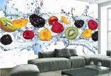 Modern Art Murals for Walls Custom Wall Painting Fresh Fruit Wallpaper Restaurant Living Room Kitchen Background Wall Mural Non Woven Wallpaper Modern