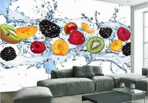 Modern Art Murals for Walls Custom Wall Painting Fresh Fruit Wallpaper Restaurant Living Room Kitchen Background Wall Mural Non Woven Wallpaper Modern
