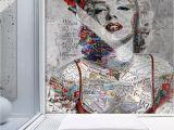 Modern Art Wall Mural Pop Art Wallpaper Marilyn Monroe Wall Mural Typographie Wall