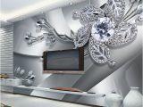 Modern Art Wall Murals Custom Any Size 3d Wall Mural Wallpaper Diamond Flower Patterns Background Modern Art Wall Painting Living Room Home Decor High Definition