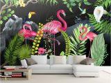 Modern Family Wall Mural Beibehang Custom Wallpaper Murals Hand Drawn Tropical Rainforest