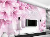 Modern Family Wall Mural Custom Wall Mural Wallpaper Modern Minimalist 3d Stereo Space Flower