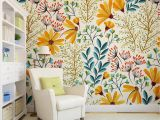 Modern Wall Mural Ideas Removable Wallpaper Colorful Floral