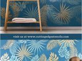 Modern Wall Mural Stencils How to Stencil A Tropical Wall Mural