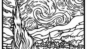 Mondrian Coloring Page Free Coloring Page Coloring Adult Van Gogh Starry Night Large