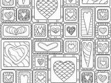 Mondrian Coloring Page Hearts Coloring Page 33 Doodle Art Pinterest