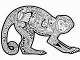 Monkey Face Coloring Pages Free Coloring Page Coloring Difficult Monkey A Coloring Page with A