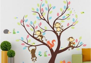 Monkey Murals for Nursery Aliexpress Buy Cute Cartoon Monkey Squirrel Animals Colorful