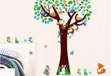 Monkey Murals for Nursery Decorative Kids Rooms Baby Nursery Bedroom Decor Monkeys Fox Birds